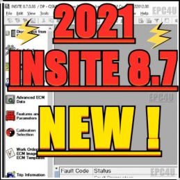 2021 ForCummins INSITE 8.7 Electronic Service Tool 8.7.086 +zapit ECM Password removal + Fleet count